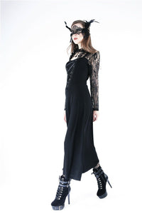 DW154 Gothic lace knitted long dress