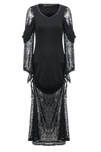 Gothic knited lace sexy dress DW155 - Gothlolibeauty