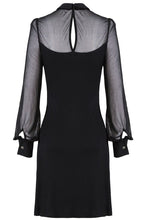 Load image into Gallery viewer, DW159 Punk Black spider neck dress