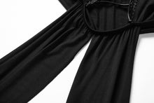 Load image into Gallery viewer, DW170 Black gothic knitted off-shoulder dress with irregular hem - Gothlolibeauty