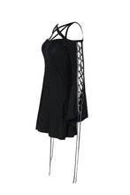 Load image into Gallery viewer, DW174 Punk elastic dress with variant star design and sexy rope sleeves