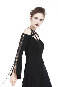 Punk elastic dress with variant star design and sexy rope sleeves DW174 - Gothlolibeauty