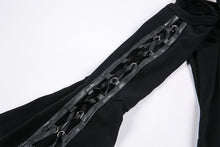 Load image into Gallery viewer, Punk elastic dress with variant star design and sexy rope sleeves DW174 - Gothlolibeauty