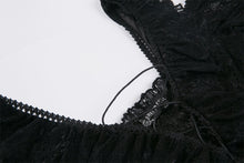 Load image into Gallery viewer, Gothic Black daily lace dress with off Shoulder DW178 - Gothlolibeauty