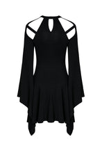 Load image into Gallery viewer, DW183 Punk knitted dress with mimic spider web shape design and big kimono sleeves - Gothlolibeauty