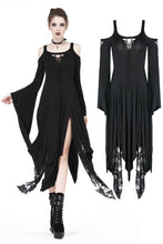 Load image into Gallery viewer, DW185 Gothic knitted long dress with irregular hem and hooked rope designs