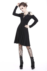 Punk slit chest strap dress DW201 - Gothlolibeauty