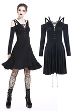 Load image into Gallery viewer, Punk slit chest strap dress DW201 - Gothlolibeauty