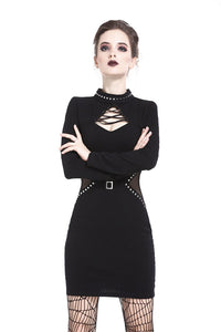 Punk ladies bandage chest slim waist bodycon DW203 - Gothlolibeauty