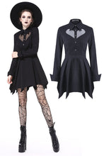 Load image into Gallery viewer, DW205 Gothic sexy mesh heart pleated collar bow dress