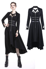 Load image into Gallery viewer, Punk buckle zippered long dress DW219 - Gothlolibeauty