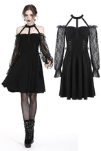 Load image into Gallery viewer, Gothic lace bishop sleeve lace-up dress DW228 - Gothlolibeauty