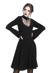 Spiderweb hearted punk dress DW237 - Gothlolibeauty