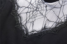 Load image into Gallery viewer, Spiderweb hearted punk dress DW237 - Gothlolibeauty