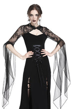 Load image into Gallery viewer, Gothic lacey hooded side slits maxi dress DW244 - Gothlolibeauty