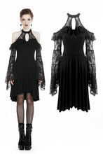 Load image into Gallery viewer, Black lady lace knitted off-shoulders dress DW246 - Gothlolibeauty