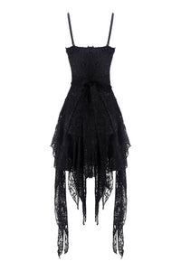 Gothic lolita elegant lace tasseled hem dress DW249 - Gothlolibeauty