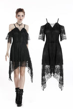 Load image into Gallery viewer, Gothic lace sexy strap dress DW250 - Gothlolibeauty