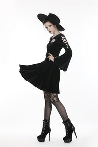 Gothic lolita heart-shaped dress with roped sleeves DW256 - Gothlolibeauty