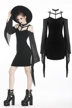 Load image into Gallery viewer, Gothic sexy tulle sleeves dress DW262 - Gothlolibeauty
