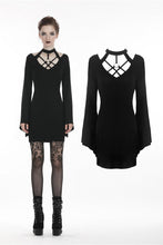 Load image into Gallery viewer, Punk sexy hollow belt pencil women dress DW273 - Gothlolibeauty