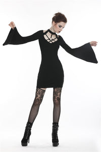 Punk sexy hollow belt pencil women dress DW273 - Gothlolibeauty