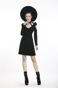 Women punk daily wear moon dress DW285 - Gothlolibeauty