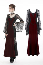 Load image into Gallery viewer, Gothic elegant red velvet lace long dress DW286 - Gothlolibeauty