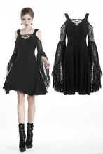 Load image into Gallery viewer, Gothic lace up chest dress with big lace sleeves DW289 - Gothlolibeauty