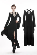 Load image into Gallery viewer, Punk rock long dress with rope and hollow chest DW295 - Gothlolibeauty