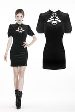 Load image into Gallery viewer, Black lady vintage lace up chest bodycon dress DW308 - Gothlolibeauty