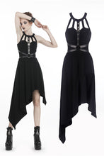 Load image into Gallery viewer, Punk dress with asymmetrical hem DW310 - Gothlolibeauty