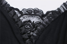 Load image into Gallery viewer, Black gothic dress with lace sleeves DW317 - Gothlolibeauty