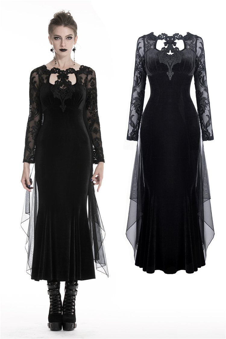 Gothic women Mermaid party maxi dress for wedding party DW326 - Gothlolibeauty