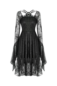 Gothic lady lacey cocktail dress DW343
