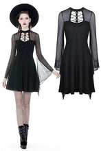 Load image into Gallery viewer, Punk mesh horn long sleeves midi dress  DW354 - Gothlolibeauty