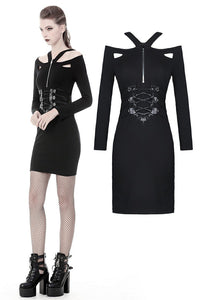 Punk bandage waist tight dress DW359 - Gothlolibeauty