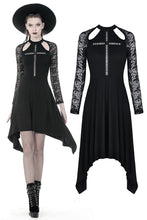 Load image into Gallery viewer, Gothic hollow cross dress with lacey long sleeves DW363 - Gothlolibeauty