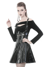Load image into Gallery viewer, Punk shinning PU underbust strap dress DW367