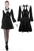 Load image into Gallery viewer, Gothic lolita black and white bow neck dress DW374 - Gothlolibeauty