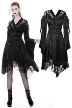 Load image into Gallery viewer, Gothic lace hollow shoulders kimono dress DW380 - Gothlolibeauty