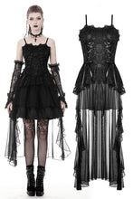 Load image into Gallery viewer, Gothic elegant lace dress with long tail tulle hem DW382 - Gothlolibeauty