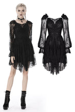 Load image into Gallery viewer, Gothic elegant long sleeves lace midi dress DW383 - Gothlolibeauty