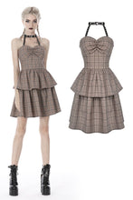 Load image into Gallery viewer, Punk checked layer prom corset dress DW387 - Gothlolibeauty