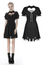 Load image into Gallery viewer, Gothic lolita hearted lace up midi dress DW389 - Gothlolibeauty