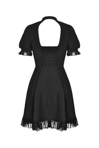 Gothic lolita hearted lace up midi dress DW389 - Gothlolibeauty