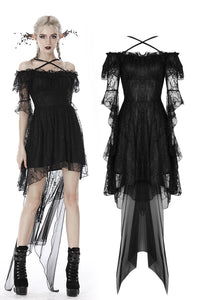 Gothic princess super mesh cocktail lace dress DW395 - Gothlolibeauty
