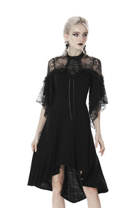 Gothic lace sexy shoulders cocktail dress DW418 - Gothlolibeauty