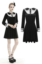 Load image into Gallery viewer, Gothic lolita doll collar velvet dress  DW432