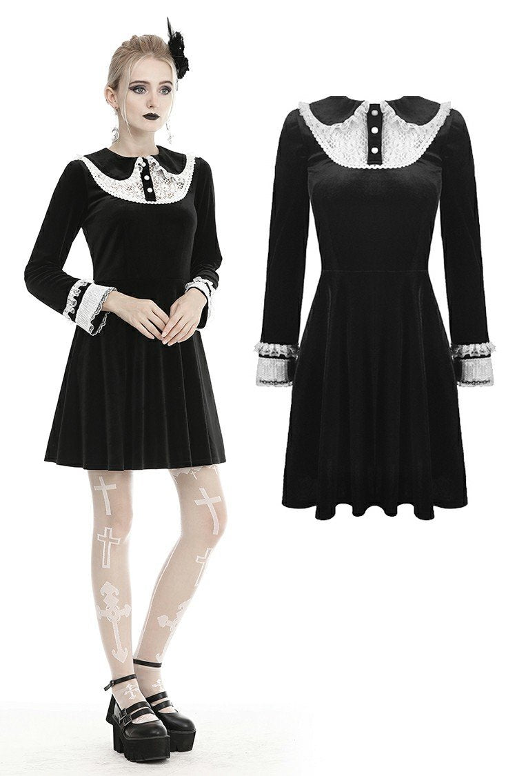 Gothic lolita doll collar velvet dress  DW432